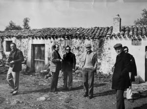 Artisti a Ottana: Da sx Robert Carroll, Aldo Musacchio, Luigi Guerricchio, Alberto Giaquinto, Francesco Manzini, Italo Scelza
